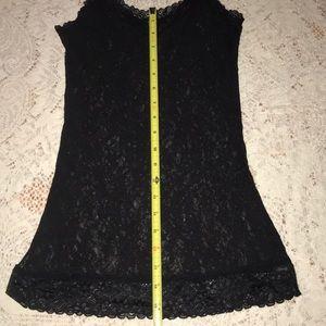 Dkny Tops - DKNY Sheer Lace Camisole-Black